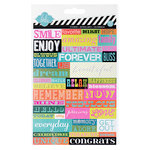 Heidi Swapp - Favorite Things Collection - Cardstock Stickers - Word Jumbles 2