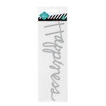 Heidi Swapp - Glitter Word Stickers - Chipboard Titles - Silver - Happiness