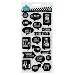 Heidi Swapp - Chipboard Stickers - Black and White