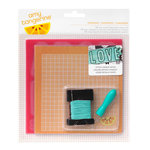 American Crafts - Amy Tangerine Collection - Stitched - Embroidery Stencil Kit - Comrade