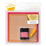 American Crafts - Amy Tangerine Collection - Stitched - Embroidery Stencil Kit - Hello