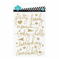 Heidi Swapp - Mixed Company Collection - Glitter Word Stickers