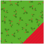 American Crafts - Be Merry Collection - Christmas - 12 x 12 Double Sided Paper - Holly