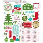 American Crafts - Be Merry Collection - Christmas - Cardstock Stickers