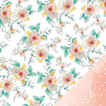 American Crafts - Amy Tangerine Collection - Stitched - 12 x 12 Double Sided Paper - Flora
