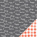 American Crafts - Amy Tangerine Collection - Stitched - 12 x 12 Double Sided Paper - Continued