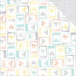American Crafts - Amy Tangerine Collection - Stitched - 12 x 12 Double Sided Paper - Moments