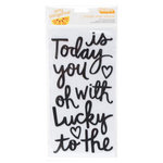 American Crafts - Amy Tangerine Collection - Stitched - Thickers - Foam Accents - Today - Black