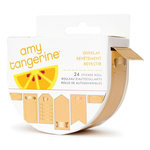 American Crafts - Amy Tangerine Collection - Stitched - Kraft Stickers with Gold Foil Accents - Roll