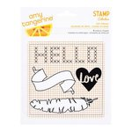 American Crafts - Stitched Collection - Acrylic Die Cut Shapes