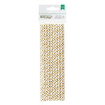 American Crafts - DIY Shop 2 Collection - Paper Straws - Gold Dot