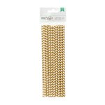 American Crafts - DIY Shop 2 Collection - Paper Straws - Gold Chevron
