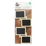 American Crafts - DIY Shop 2 Collection - Chalkboard Label Clips