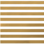 American Crafts - DIY Shop 2 Collection - 12 x 12 Paper - Thick Gold Foil Stripe On White