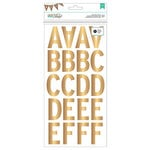 American Crafts - DIY Shop 2 Collection - Large Alphabet Stickers - Gold
