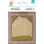 American Crafts - DIY Shop 2 Collection - Tags - Kraft With Gold Glitter