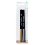American Crafts - DIY Shop 2 Collection - Permanent Chalk Markers - Broad Point - Gold and Silver