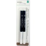 American Crafts - DIY Shop 2 Collection - Permanent Chalk Markers - Broad Point - White