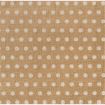 American Crafts - DIY Shop 2 Collection - 12 x 12 Printed Burlap Sheet - White Dot