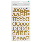 American Crafts - DIY Shop 2 Collection - Large Alphabet Stickers - Typewriter - Gold
