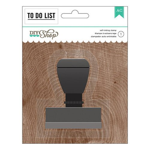 American Crafts - DIY Shop 2 Collection - Self Inking Stamp - To Do List