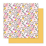Pink Paislee - Bella Rouge Collection - 12 x 12 Double Sided Paper - Bloom
