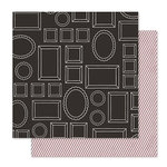 Pink Paislee - Bella Rouge Collection - 12 x 12 Double Sided Paper - Mirror Mirror