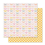 Pink Paislee - Bella Rouge Collection - 12 x 12 Double Sided Paper - Beautiful
