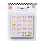 Pink Paislee - Bella Rouge Collection - 4 x 4 Journaling Cards