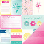 American Crafts - Dear Lizzy Serendipity Collection - 12 x 12 Double Sided Paper - Cotton Candy