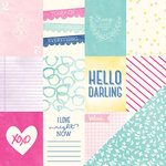 American Crafts - Serendipity Collection - 12 x 12 Double Sided Paper - Hello Honey