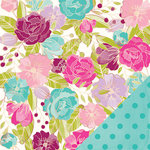 American Crafts - Dear Lizzy Serendipity Collection - 12 x 12 Double Sided Paper - Hello Beautiful