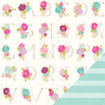 American Crafts - Dear Lizzy Serendipity Collection - 12 x 12 Double Sided Paper - Love Letters