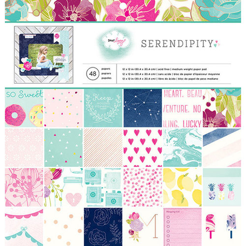 American Crafts - Dear Lizzy Serendipity Collection - 12 x 12 Paper Pad