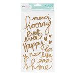 American Crafts - Dear Lizzy Serendipity Collection - Thickers Foil Stickers - Royal