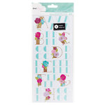 American Crafts - Dear Lizzy Serendipity Collection - Clear Sticker Book - Letters and Numbers