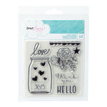 American Crafts - Dear Lizzy Serendipity Collection - Clear Acrylic Stamps - Medium