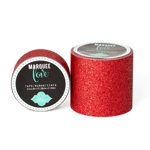 Heidi Swapp - Marquee Love Collection - Glitter Tape - Red - 2 Inches Wide