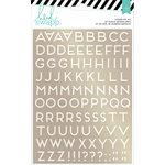 Heidi Swapp - Wanderlust Collection - Memorydex - Foil Sticker Kit - Alphabets - Gold