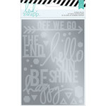 Heidi Swapp - Wanderlust Collection - Memorydex - Foil Sticker Kit - Sentiments - Silver