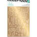 Heidi Swapp - Wanderlust Collection - Memorydex - Foil Sticker Kit - Together - Gold
