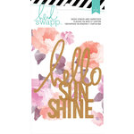 Heidi Swapp - Wanderlust Collection - Wood Veneer Pieces - Quote - Hello Sunshine