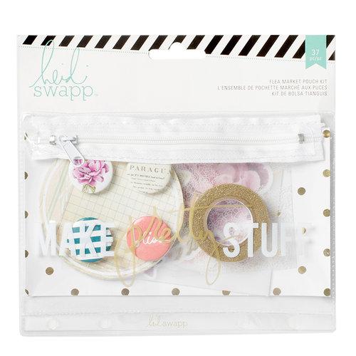 Heidi Swapp - Wanderlust Collection - Flea Market Pouch Kit - Make Pretty Stuff