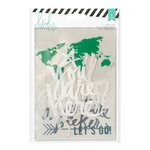 Heidi Swapp - Wanderlust Collection - 5 x 7 Memory Binder Inserts - Printed Clear Acetate