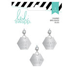 Heidi Swapp - Wanderlust Collection - Metal Charms - Hexagons