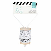 Heidi Swapp - Wanderlust Collection - Ribbon Spool - Lace - Black and White