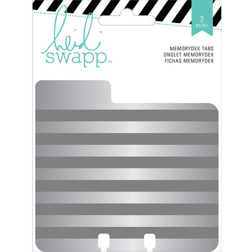 Heidi Swapp - Wanderlust Collection - Memorydex - Cards - Embossed Tin Tabs
