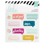 Heidi Swapp - Wanderlust Collection - Puffy Stickers - Speech Bubble