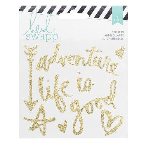 Heidi Swapp - Wanderlust Collection - Vinyl Stickers - Gold Glitter