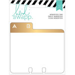 Heidi Swapp - Wanderlust Collection - Memorydex - Cards - Address Book Tabs